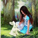 ארנב לבנבן 2868 FOLKMANIS בובת כף יד