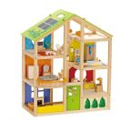 HAPE בית בובות ענק E3401 צעצועי עץ