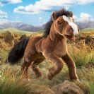 FOLKMANIS בובת סוס חום 2924