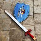 חרב ומגן מעץ  'עצמת הרקיע' H1112