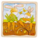 צעצועי עץ פאזל שכבות GOKI גידול גזר 57495