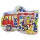 צעצועי עץ GOKI פאזל מכבי אש 57518