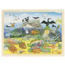צעצועי עץ פאזל החיים מתחת למים GOKI 57703