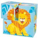 צעצועי עץ GOKI פאזל קוביות מיוחד