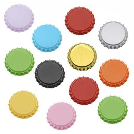 "100 פקקי כתר צבעוניים 26 מ""מ Colored 26 mm crown caps 100 pcs"