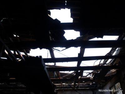 מבנה לאחר נזק אש