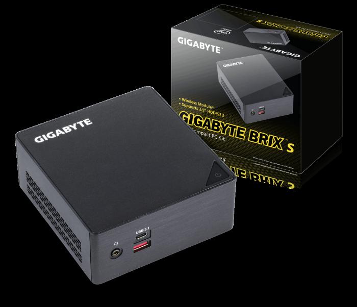GIGABYTE BRIX TRIPLE BOOT מסדרת PC MONSTER מעבד  I7-6500u  INTEL - שלוש מערכות הפעלה!
