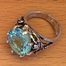 TR1q Aquamarine  Ring