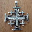 CS41 Silver Jerusalem Cross