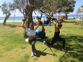 אימון TRX, כושר בפארק, אימון זוגות