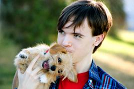 האם כל כלב יכול להיות כלב טיפולי ילד מחזיק כלב
