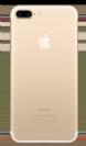 גב אחורי זהב לאייפון 7 פלוס כולל לוגו