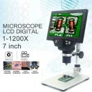 1200X מיקרוסקופ נטען דיגיטלי וידאו 7 אינץ HD LCD הלחמה תיקון הטלפון כולל הקלטה