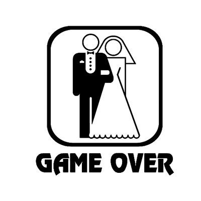 חולצות לחתונה game over