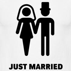 just married עיצובים מגוונים של חולצות לחתונה