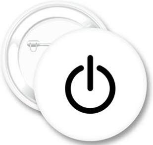 סיכת דש בצורת כפתור כיבוי