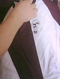 חולצה עם הדפס לבית ספר