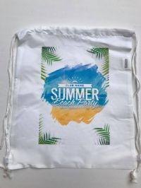 תיק שרוך ממותג מבד- summer