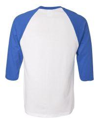 חולצה אמריקאית תכלת לבן להדפס