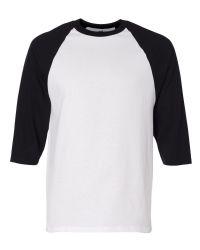 חולצות אמריקאיות להדפסה בצבעים שחור לבן