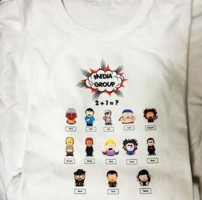 חולצה לבנה בעיצוב מגניב למסיבת רווקות