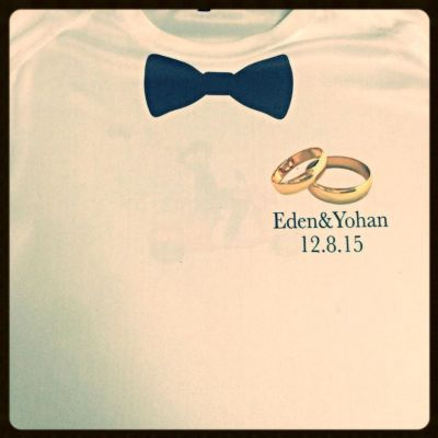 הדפסת חולצות לחתונה של עדן ויואב