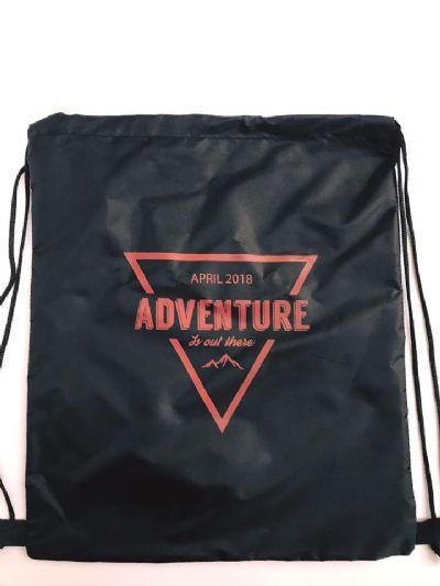תיק שרוך ממותג מניילון - adventure