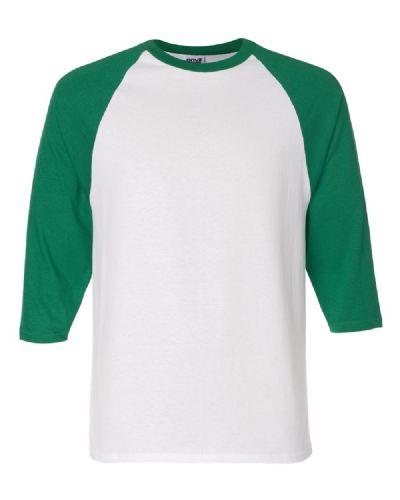 הדפסת חולצה ירוק לבן אמריקאית