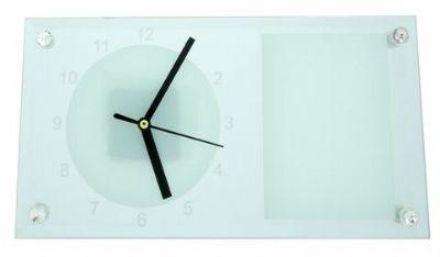 שעון קיר מלבני עם תמונה