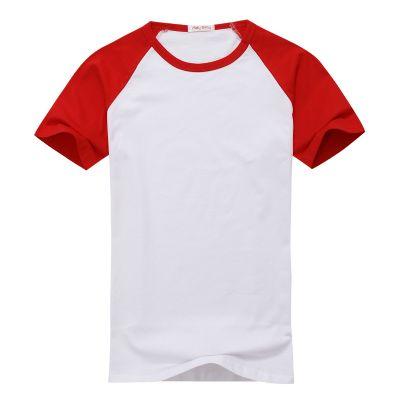 חולצה אמריקאית אדום לבן קצרה להדפסה