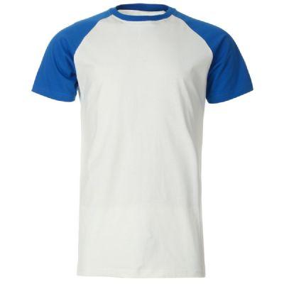 חולצה כחול לבן קצרה להדפס
