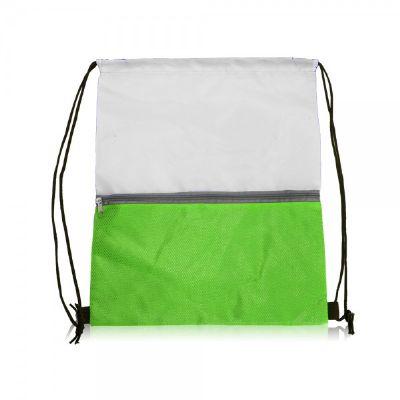 תיק שרוך ניילון ירוק ולבן