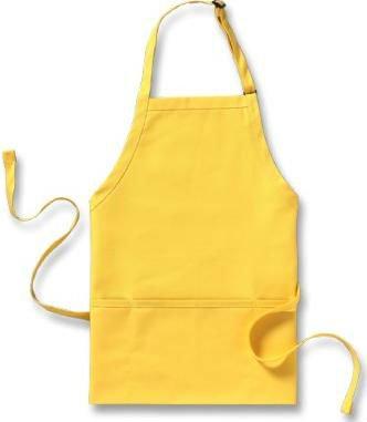 הדפסה על סינרים בצבע צהוב