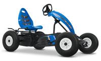 מכונית פדלים קומפקט ספורט כחולה