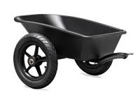 עגלה נגררת שחורה למכונית פדלים
