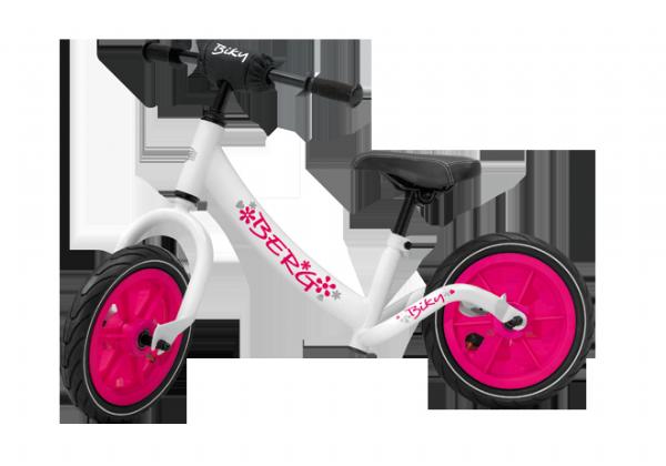 אופני איזון דגם בייקי בצבע לבן ורוד של ברג