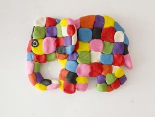 בנצי הפיל הצבעוני פלסטלינה