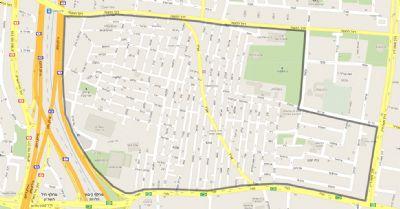 מפת שכונת התקווה