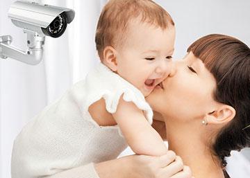 מצלמות אבטחה למטפלת