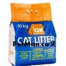 """חול לחתולים ak מתגבש 10 ק""""ג גרגירים גדולים"""