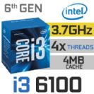 מעבד אינטל INTEL I3 6100 3.7GHZ LGA1151
