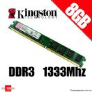 זיכרון למחשב נייח KINGSTON 8GB DDR3 1333MHZ