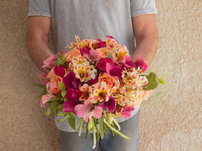 הזר של ספיר Sapir's bridal bouquet