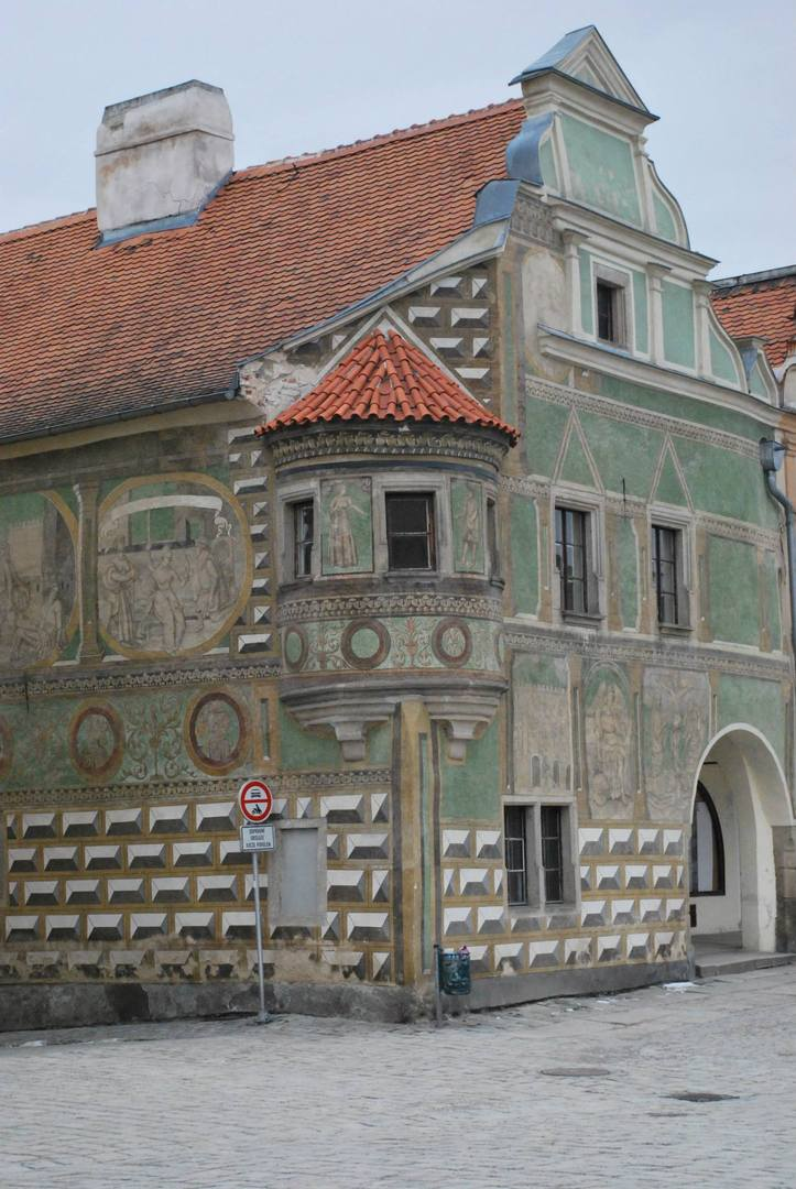 כיכר מדהימה בעיר Telč