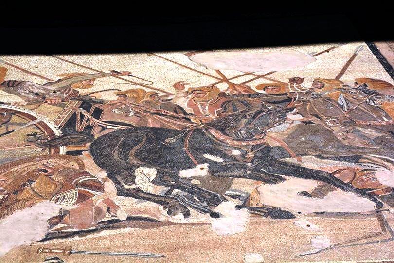 פומפיי-פסיפס הקרב בין אלכסנדר לדריווש