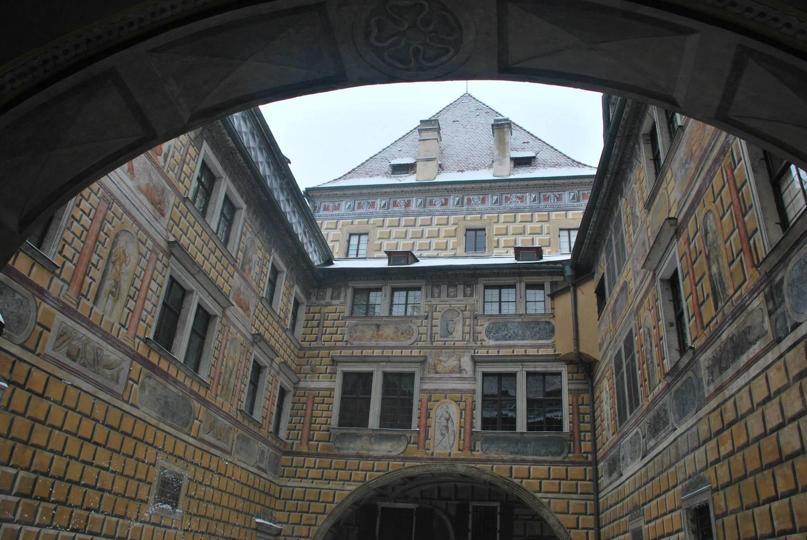 Cesky Krumlov בשלג-המצודה