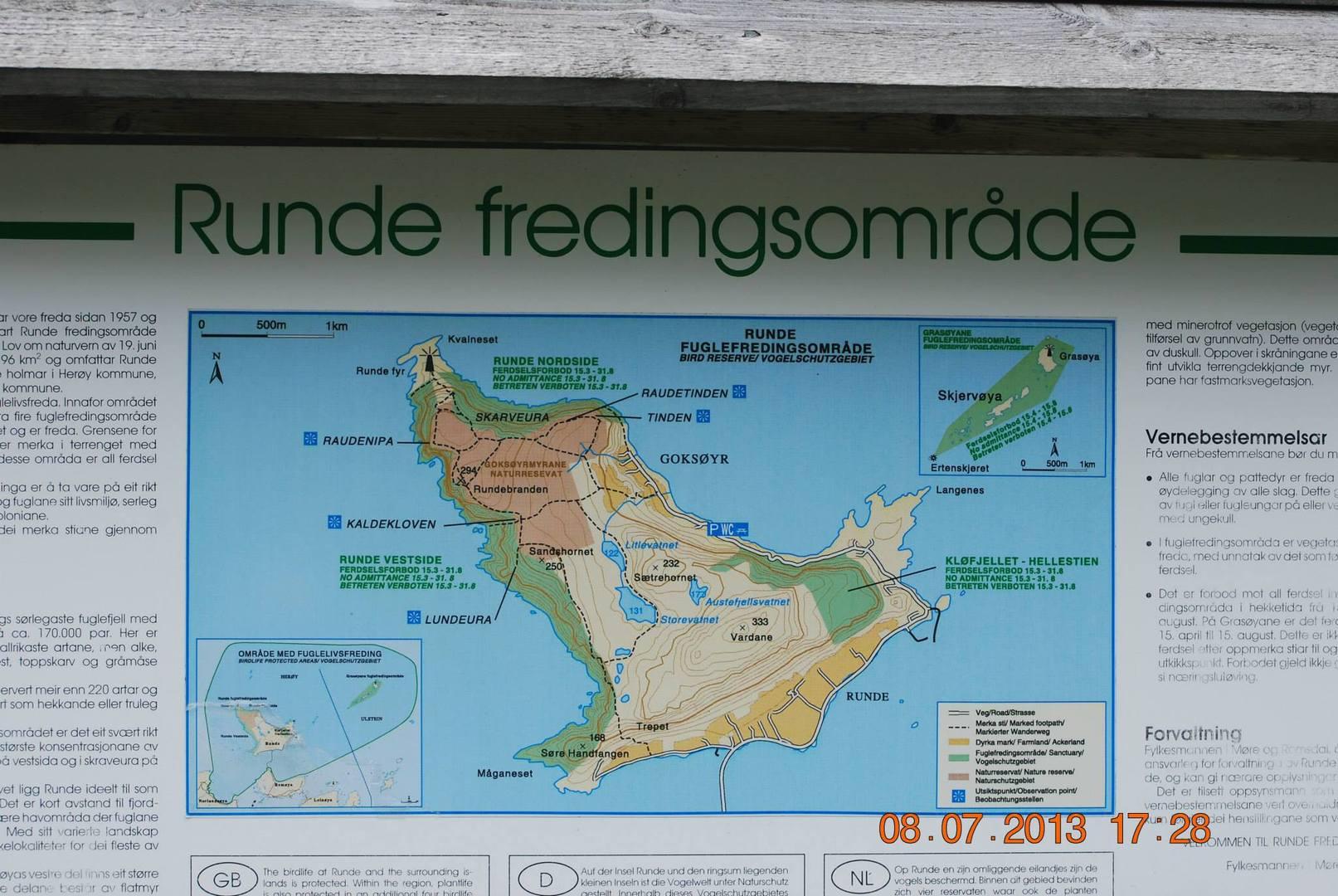 מפת האי Runde