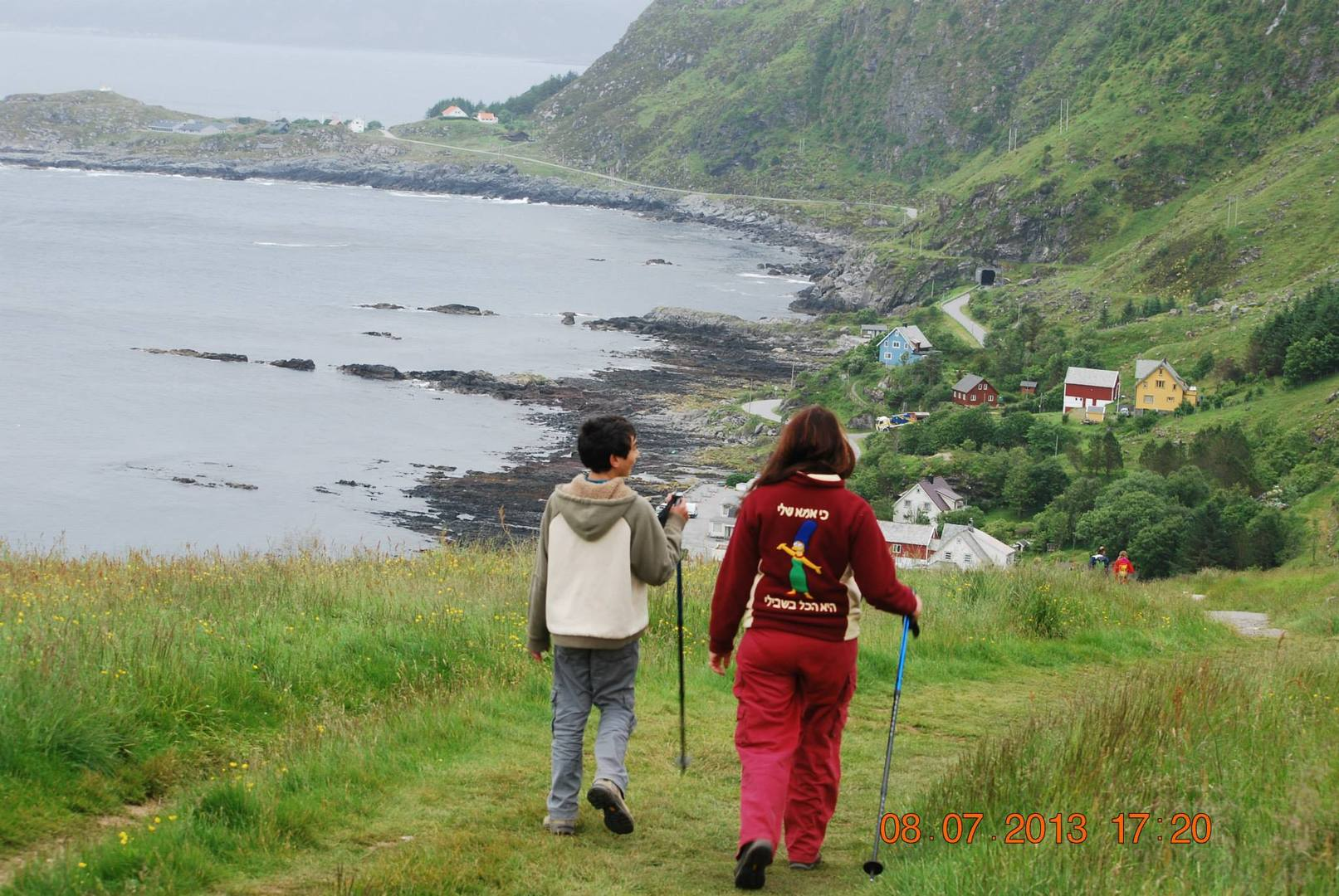 הולכים ברגל ברחבי האי