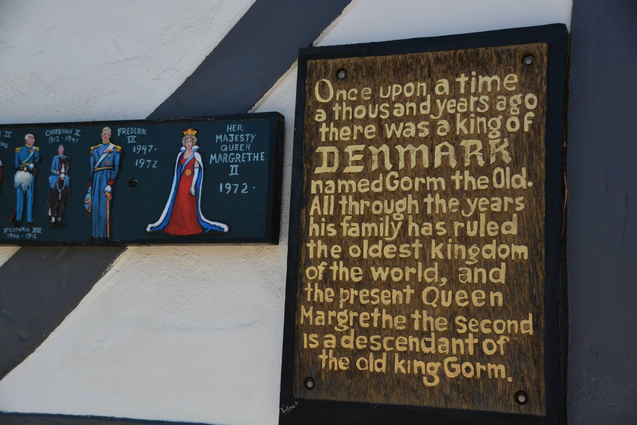 ציור עץ המתאר את שושלת המלוכה הדנית