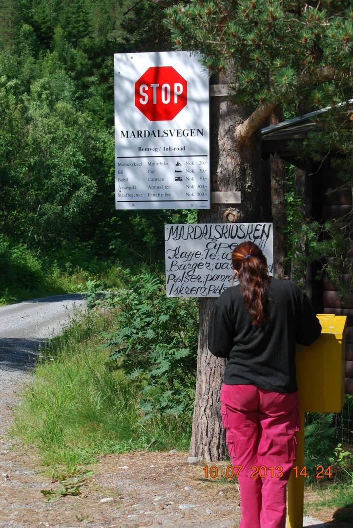 מפל Mardalsfossen נקודת התשלום